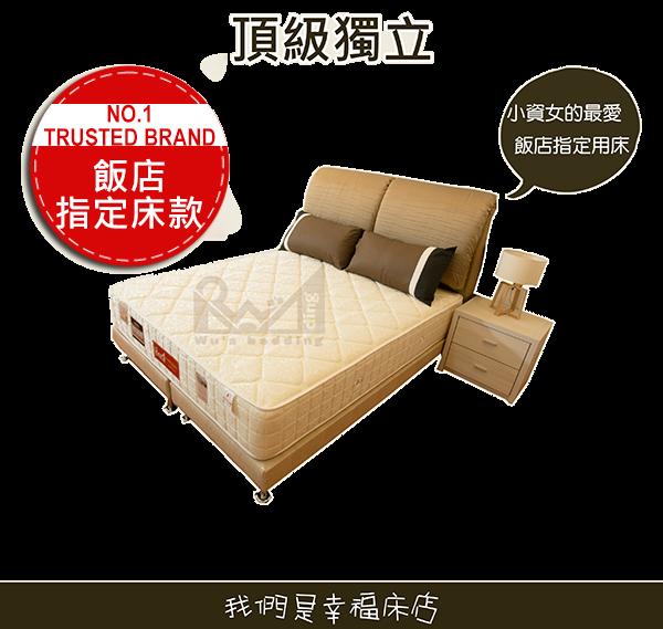 獨立筒床墊-飯店指定頂級款|標準雙人床獨立筒床墊 也有單人或雙人加大