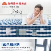獨立筒床墊-恆溫涼爽棉|藍色棉花糖 防敏抗暑專用 (加大雙人床墊)