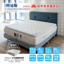 獨立筒床墊-恆溫涼爽棉│路易斯-太空恆溫睡眠系統(標準雙人床) 也有單人或雙人加大/特大