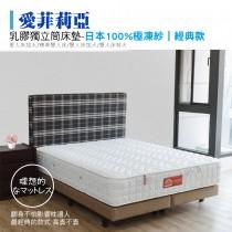 乳膠獨立筒床墊-軟硬適中款|愛菲莉亞-極凍紗 (KING SIZE特大床墊)